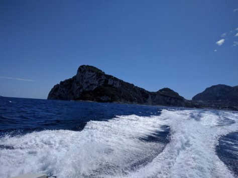 Leaving Capri in the wake. Photo by j a-b