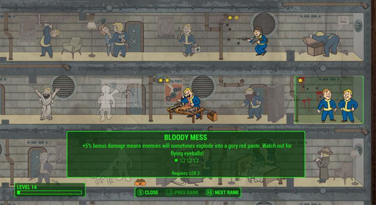 Fallout 4 - profity