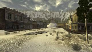 Przyjaźnie wyglądająca osada, tuż po zimie nuklearnej trzymającej ponad 200 lat.