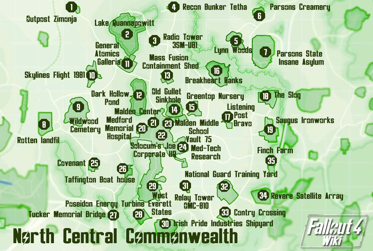 Fallout 3 Map Printable