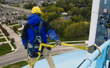 fall protection on top of water tower