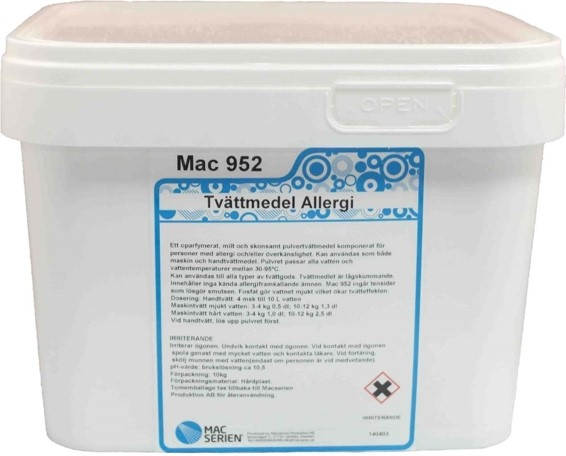 Mac 952 Allergi vaskemiddel - klesvaskemiddel - Macserien