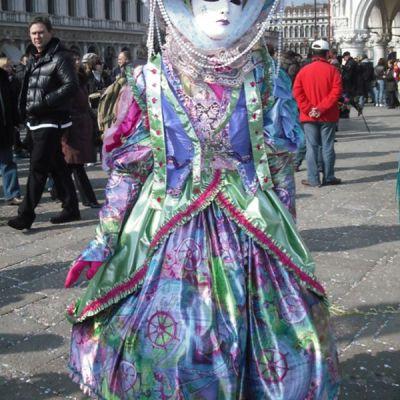 maschera multicolore