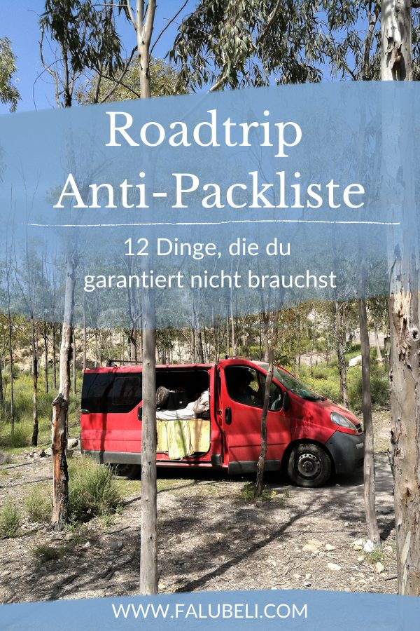 Roadtrip-Anti-Packliste