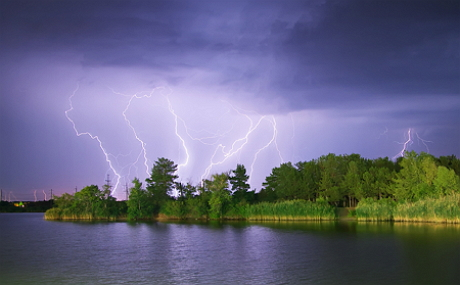 Lightning on the river
