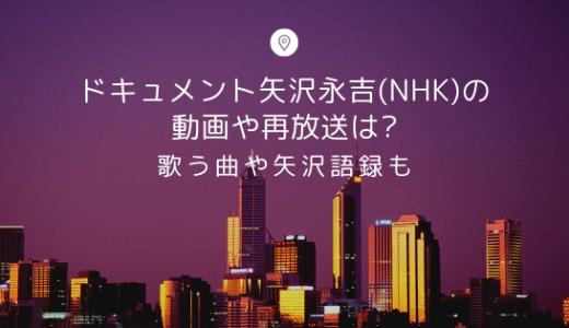 ドキュメント矢沢永吉(NHK)の動画や再放送は?歌う曲や矢沢語録も