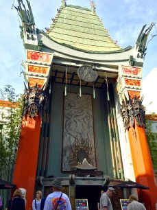 Standing outside Grumman's Chinese Theatre on Hollywood Boulevard.
