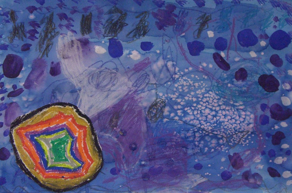 Fusion Of Concert Colors Artwork By Conner S., Grade 1