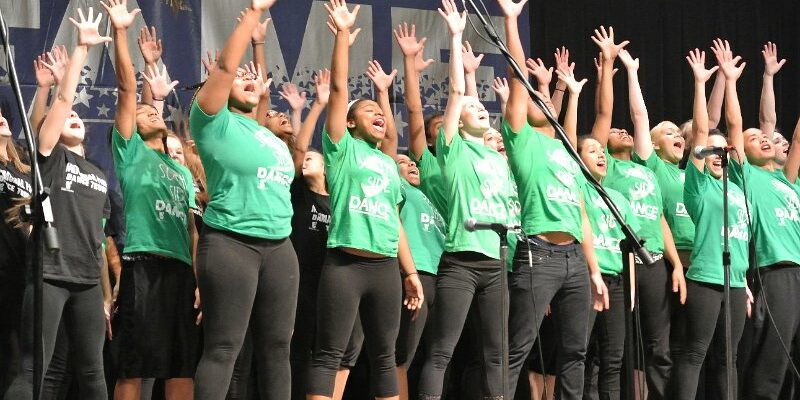 Fort Wayne Community Schools Dance Troup performs at FAME Festival