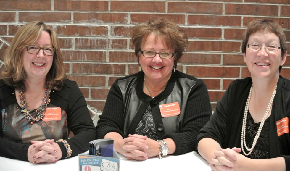 Arts United Award Nominees Terri Nagel, Diane Barton, And Janice Furtner