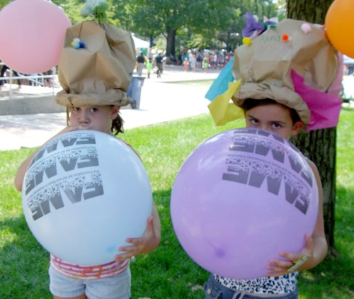 Kids at Taste of the Arts with FAME Balloons