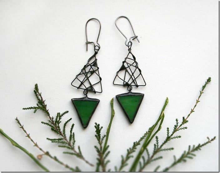 Fashionista NOW: Mesmerizing Stained Glass Geometric Earrings