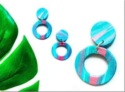 Fashionista NOW: Vibrant Clay Circle Earrings For Extra Happy Ears