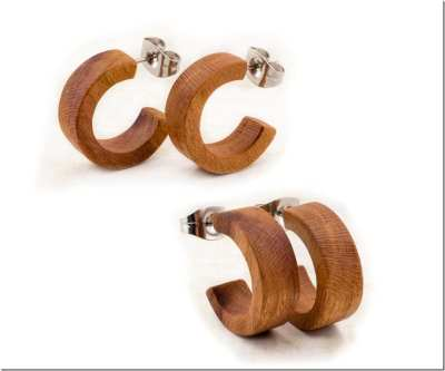 Fashionista NOW: Minimalist Wood Stud Earrings To Decorate Your Natural Ear Lobes