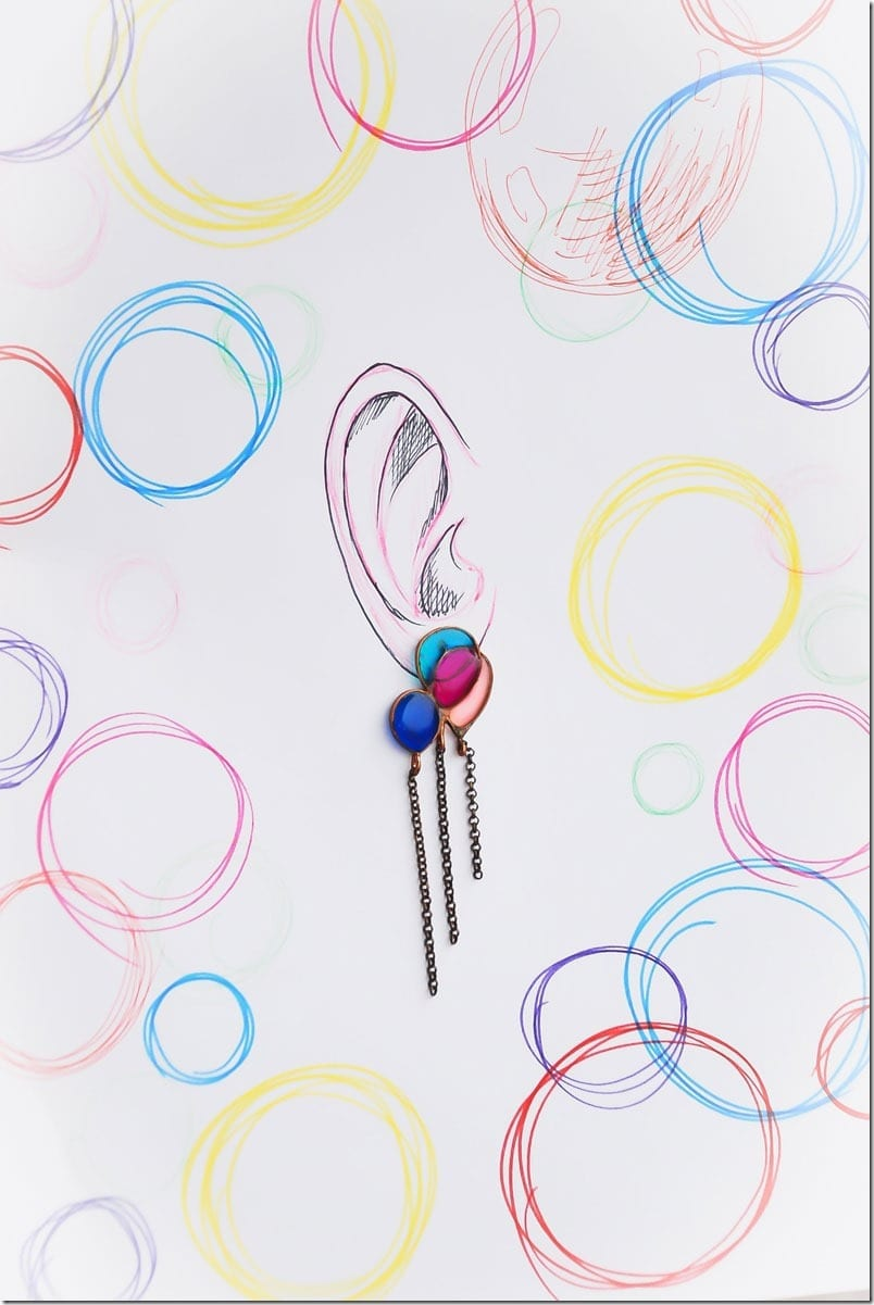 Fashionista NOW: Adorable Glass Earrings For Quirky Ear Lobes
