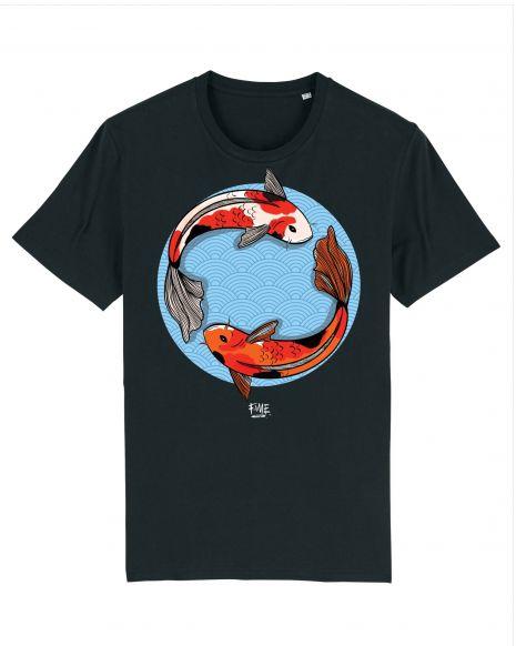 KOI FISH Unisex T-Shirt – Black