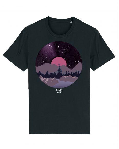 VINYL LANDSCAPE Unisex T-Shirt – Black