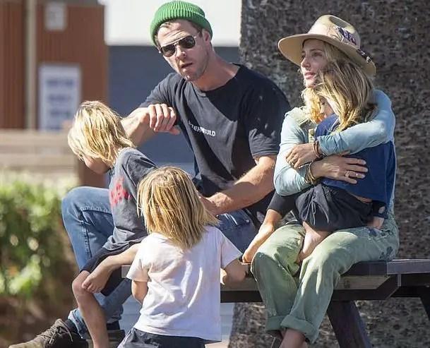 Elsa Pataky, Chris Hemsworth and Children