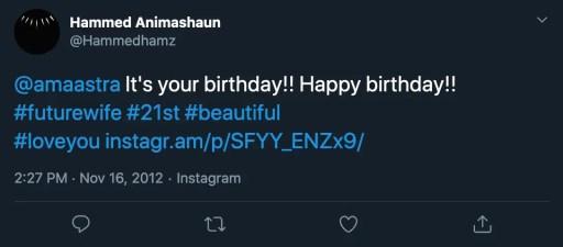 Hammed Animashaun girlfriend Tweet 2
