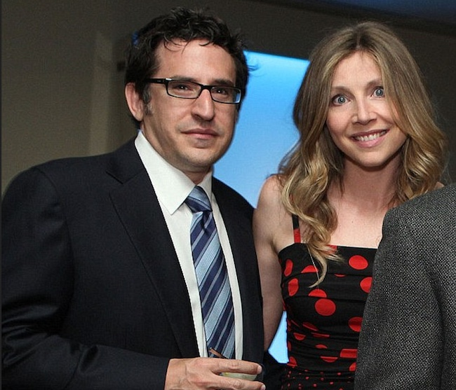 Sarah Chalke with partner Jamie Afifi
