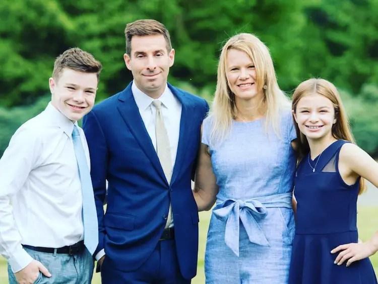 Elie Honig and wife Rachel Honig with son Aaron Honig and daughter Leah Honig.