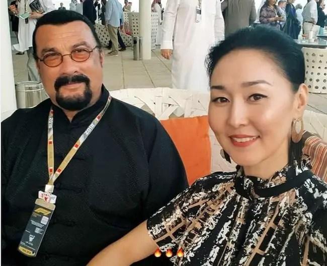 Kunzang Seagal's parents Steven Seagal and Erdenetuya Seagal
