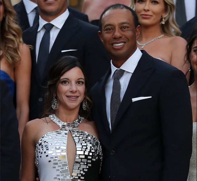 Erica Herman and boyfriend Tiger Woods in 2018