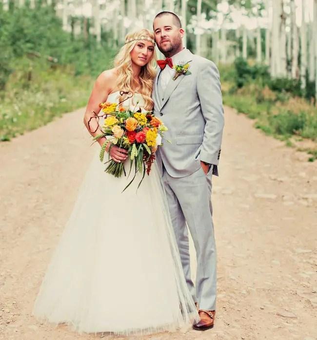 Jasmine Roth and husband Brett Roth on wedding day