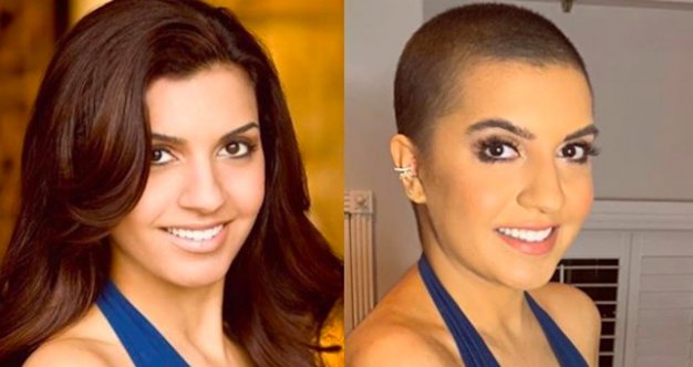 Amanda Salas before and after cancer