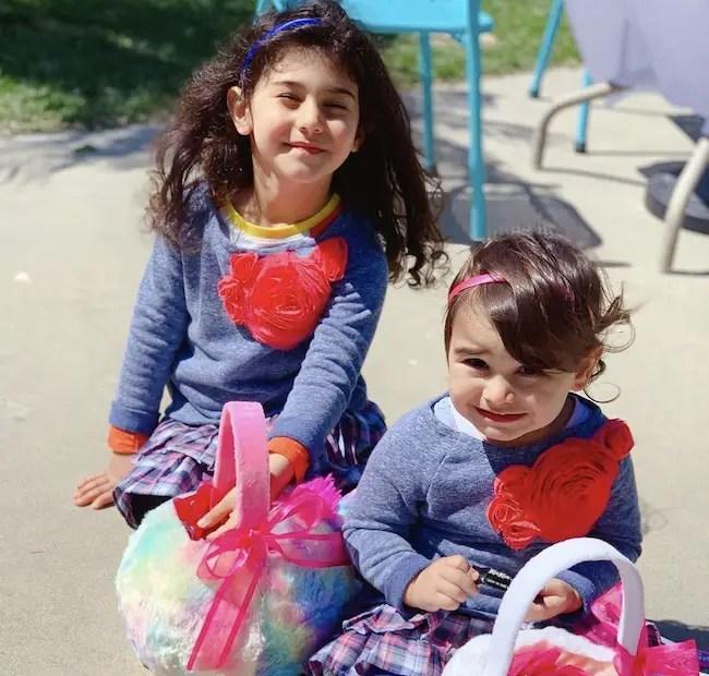 Araksya Karapetyan and Amir Yousefi's daughters Sevan Yousefi and Sona Yousefi