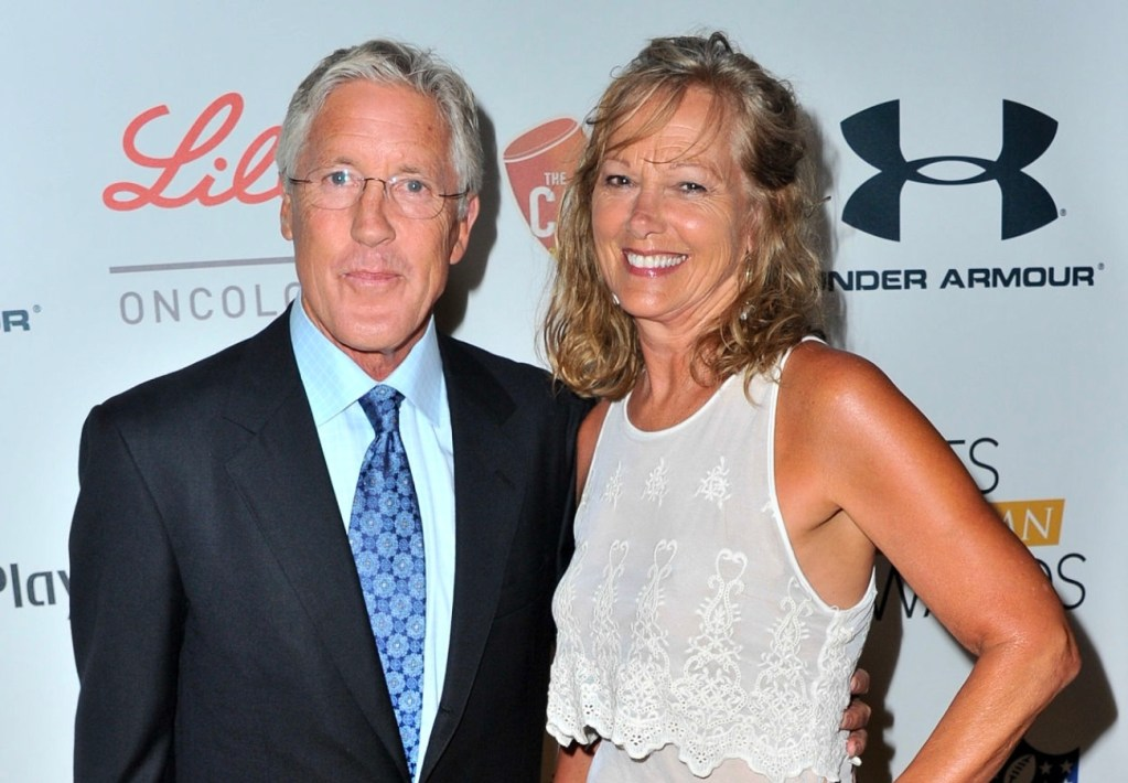 Glena Goranson and husband Pete Carroll