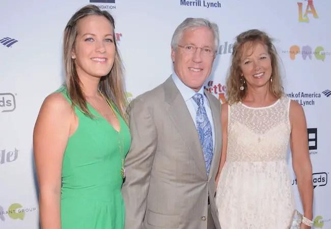 Glena Goaranson, husband Pete Carroll, and daughter Jaime Carroll