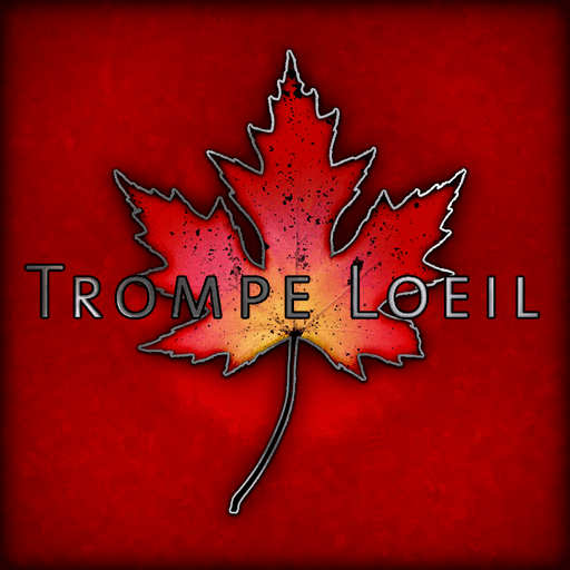 Trompe Loeil logo red square 512x512