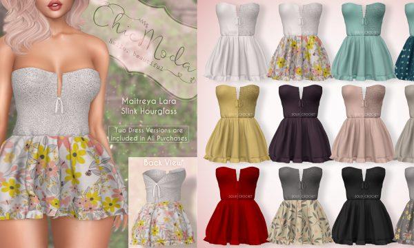 Charlene Dress.  L$249 per single. L$1,299 for Fatpack.