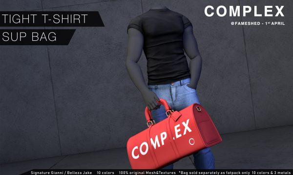 Tight T-Shirt. ★ L$269 per single. L$889 for fatpack.  Sup Bag.  L$449.