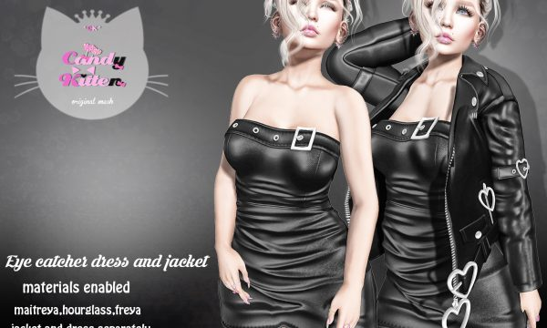 Eye Catcher Dress & Eye Catcher Jacket. Dress is L$180 each / Jacket is L$189 each. Jacket - Fatpack is L$750 / Dress - Fatpack is L699. ★ 🎁
