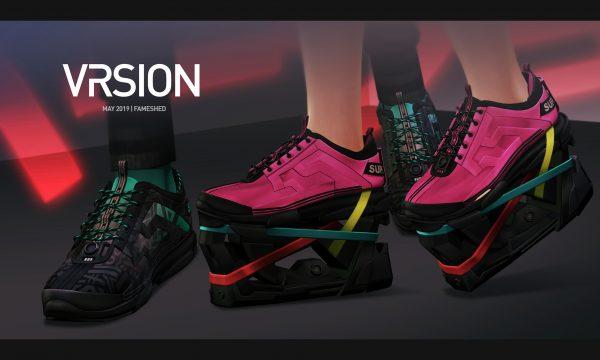 KNV 33 Platform Sneakers Unisex. L$299 each / Fatpack is L$1,000.