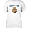 strong like a bear Famfabrix design white
