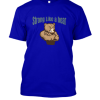 strong like a bear Famfabrix design dark blue