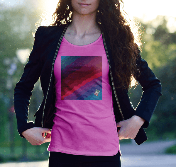 colourful clouds pink T shirt e1579517819213