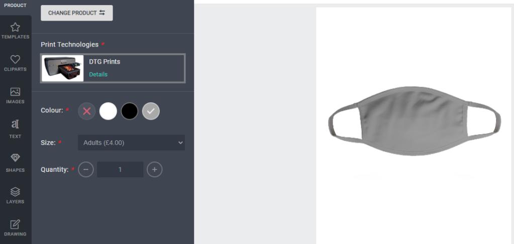 facemask grey