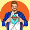 superman reveals model cartoon
