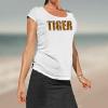 model in Tiger T shirt