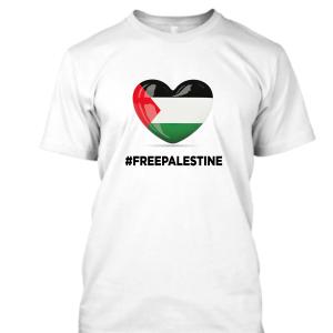 Free Palestine Heart with Flag #FreePalestine