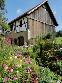 The barn and the garden