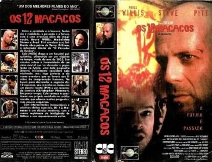 Os doze Macacos, VHS original, Brad Pitt
