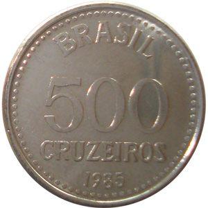 Moeda de 500 Cruzeiros, MBC, 1985 a 1987