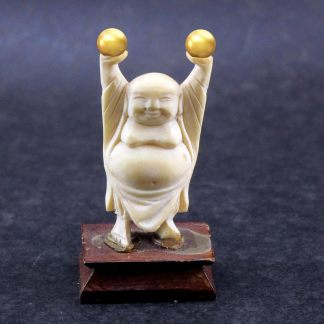 Buda da Riqueza e Prosperidade em Marfim