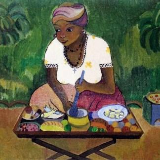 Eneida, Baiana cozinhando, óleo s/ tela