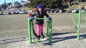 Brincando no lago Nahuel Huapi